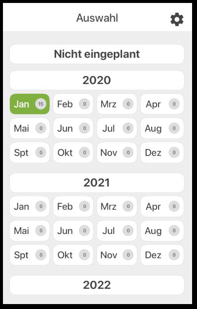 Den HZeitraum im Kalender auswählen