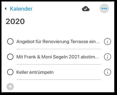 Jahressicht in der Zeitkünstler-App